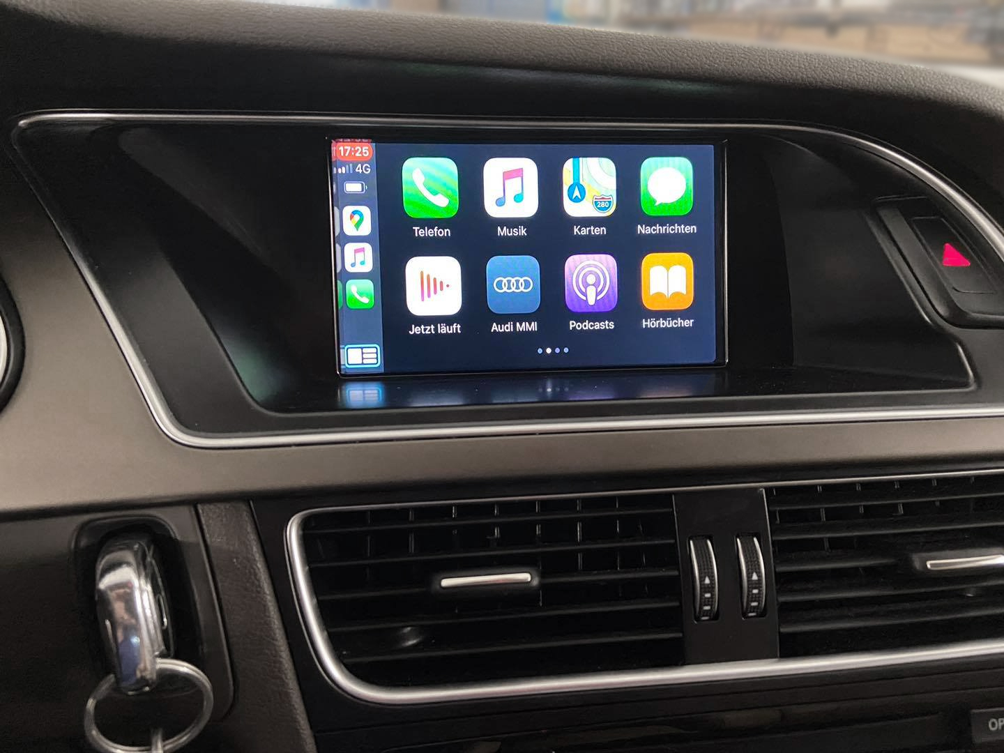 Carplay im Audi A4 mit MMI3G