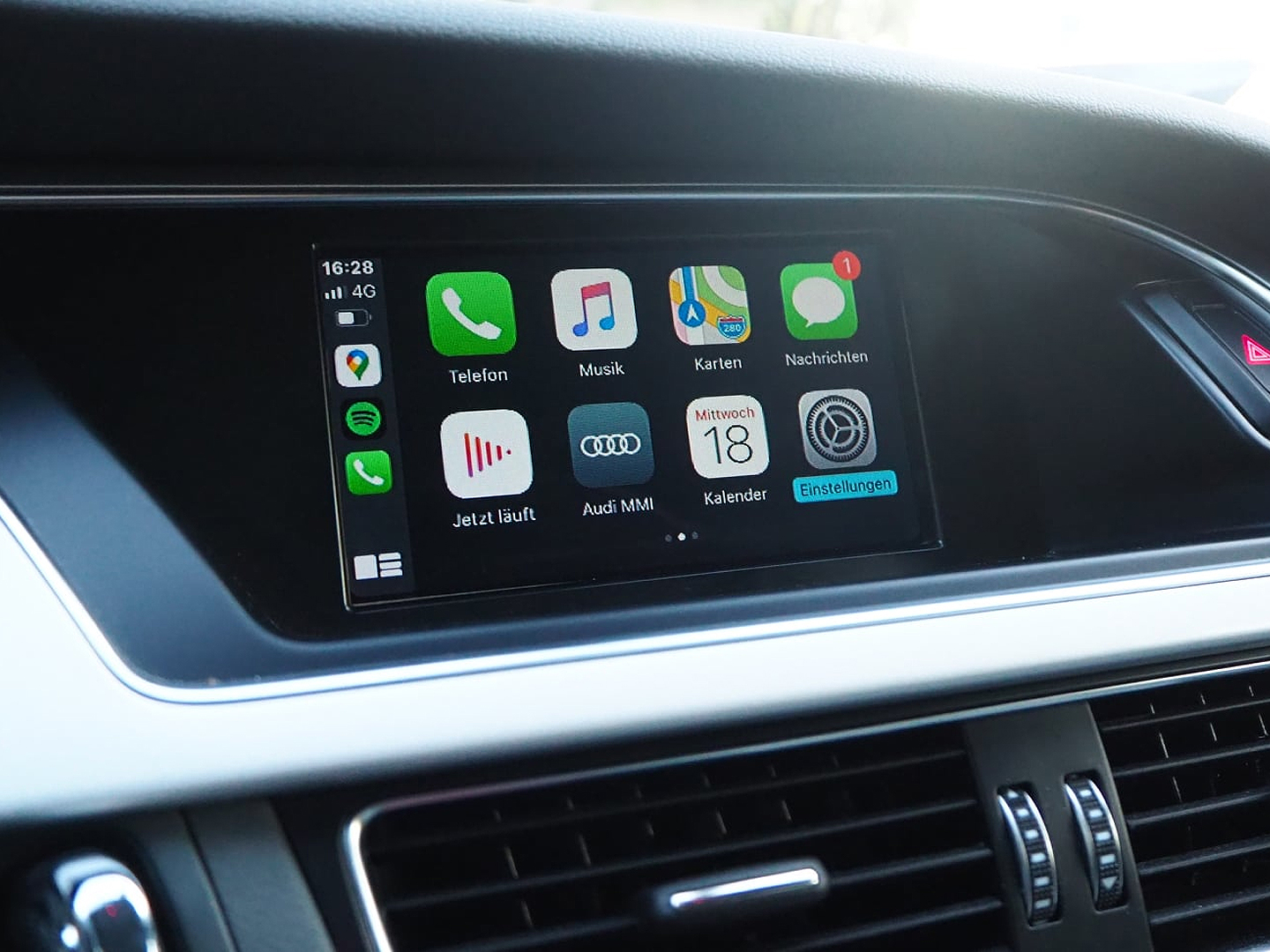 Carplay im Audi A5 mit MMI3G