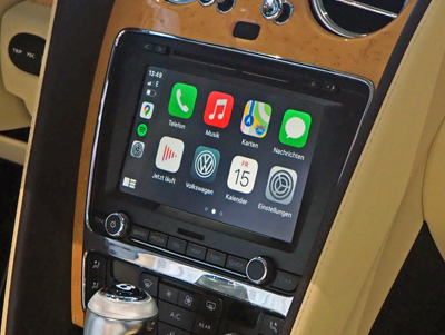 Carplay im Bentley Continental GTC