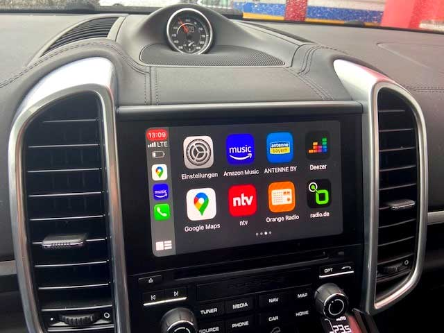 Carplay im Porsche Cayenne PCM4.0