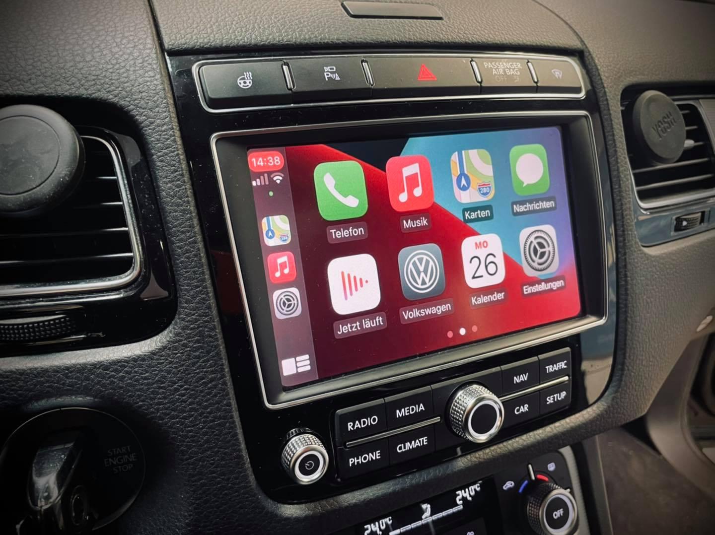 Carplay im VW Touareg mit RNS850
